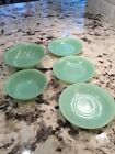 Fire King Green Jadeite JANE RAY Mixed Lot ~ Saucers, Fruit, Cereal