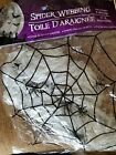 Spider Webbing Halloween 567G 2 oz Includes 4 small spiders