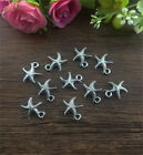 12pcs Starfish Tibetan Silver fit Pendants bracelet beaded Charms