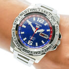 Seiko 5 Sports SRP681K1 Men's World Cal 4R36 Blue Dial Pepsi Chapter Ring Watch