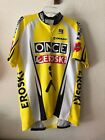 VINTAGE ONCE SHORT SLEEVE CYCLING JERSEY YELLOW SIZE 9 X LARGE BY BMC
