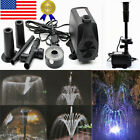 98W LED Submersible Pond Pump Water Fountain Sump Waterfall Aquarium Fish Pool
