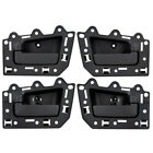 New 4 Piece Set Inside Black Door Handle Assembly 05-10 Jeep Grand Cherokee SUV
