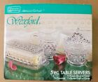 Vintage Anchor Hocking Wexford 5 pc Table Servers Sugar Bowl Creamer butter dish