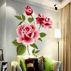 DIY Vinyl Home Room Decor Art Rose Flower Wall Decal Stickers Removable Mural