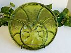 Vintage Indiana Glass Pebble Leaf Green 13