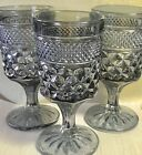 5 Wexford Anchor Hocking Smoke Gray wine Water Goblets