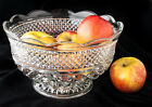 Bowl Pressed Glass Serving Large Fruit Centerpiece Wexford 10