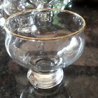 12 Fruit Dessert Dish Custard Cup Clear Glass Gold Band Trim 4