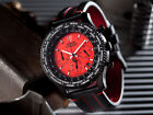 DETOMASO Firenze Chronograph Black Stainless Steel Red Dial New(23)