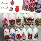 18X Ice Cream Ail Art Decals Stickers Tips Charm Manicure Christmas Decors