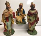 12 Large Nativity Italy Paper Mache Composition 3 Three Wisemen Wiseman