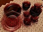 Vintage Moroccan Amethyst Hazel Ware Dinnerware, 37-piece mixed set--Beautiful!!