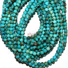 Natural Blue Turquoise 6mm Round Gemstone Beads 15beauty