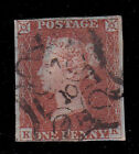 GB QV SG 8m 1d RED BROWN LONDON NUMERAL CANCEL 10 in MALTESE CROSS