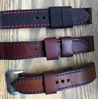 Three Custom Panerai Straps with Colored Side-Stitching
