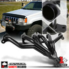 Black Exhaust Header Manifold for 91 99 Jeep Wrangler Cherokee YJ TJ 40 242 I6