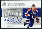 2004 05 SP AUTHENTIC SIGN OF THE TIMES WAYNE GRETZKY AUTO