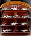 12 FRANKLIN MINT 143 SCALE SET CLASSIC CARS WITH DISPLAY SHELF DIE CAST MIB
