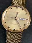 Mido Commander Datoday 8429 Gold Tone Stainless Steel Automatic Watch
