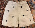 Very Good Condition E-Land Khaki Pull-on Boys 2T Shorts w/ Embroidered Golfers