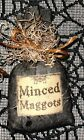 Halloween Primitive Witch's Brew Ingredient Bowl Filler~MINCED MAGGOTS