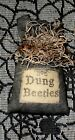 Halloween Primitive Witch's Brew Ingredient Bowl Filler~DUNG BEETLES
