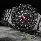 DETOMASO Firenze Mens Wrist Watch Chronograph Stainless Steel Black New (46)