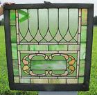 Crafts LG Stained Glass Window Panel Architectural Salvage #1 yqz