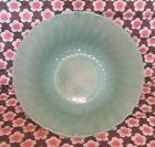 Vintage Green Jadeite Jadite Fire King Anchor Hocking Swirl Bowl 8 1/2