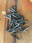 """ inch NAILS 50 lot square cut antique vintage large round flat head Hardware"