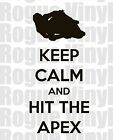 Keep Calm And Hit The Apex Decal Sticker - Motorcycle Racing - Moto Gp