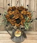 Primitive Handmade Summer Fall Thanksgiving Sunflowers in a Vintage-Look Pitcher