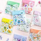 45Pcs Pretty Journal Diary Decor Flower Paper Stickers Scrapbooking Stationery