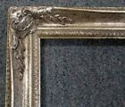 Picture Frame 8x10 Vintage Antique Style Baroque Ornate Silver Gray w GLASS 102S