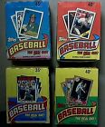 1986 Topps 1987 Topps 1988 Topps 1989 Topps 4 Box Lot To Many Rookies to Name!!!