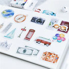 46pcs Retro Vintage Old Fashioned Style Luggage Suitcase Travel Stickers