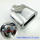 Chrome Car Rear Muffler 56mm 22 Universal Inch Exhaust Tail Pipe End Tip Cover