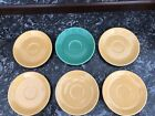 Vintage Fiesta Ware Saucers - 5 Yellow and 1 Green
