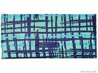 NWT VERA BRALEY Textured PVC Clutch Trifold Wallet - Navy Blue Teal Art Paid NEW