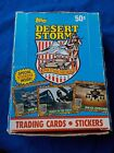DESERT STORM TOPPS WAX BOX CARDS 36CT PACKS EDUCATIONAL CARDS SERIES I BLUE