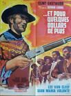 FOR A FEW DOLLARS MORE - CLINT EASTWOOD / LEON - ORIGINAL FRENH MOVIE POSTER