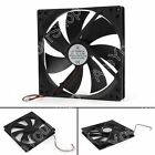 DC CPU Computer Cooling Case Fan 12V 024A 18025s 180x180x25mm 2 Pin Wire UE