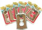 Vtg Switch Plate Cover American Eagle Solid Cast Metal Colonial Wood HG LOT OF 7
