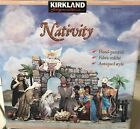 Kirkland Christmas Nativity Set Large Creche 22 Pcs Hand Painted Rare