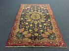 On Sale Beautiful Semi Antique Hand Knotted Persian Mahal Rug Floral Carpet 4x6