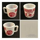 Red Ranger Joe Ranch Mug Hazel Atlas Childs Cowboy Cup Milk Glass Vintage (CC10)