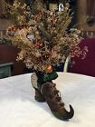 Primitive Halloween/Fall Witches Boot With Tea Light Decor #3