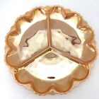 Fire King Anchor Hocking Peach Luster Divided Platter Serving Plate