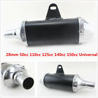 28mm Universal Motorcycle Pit Dirt Bike Exhaust Muffler Pipe 50cc 110cc 125cc